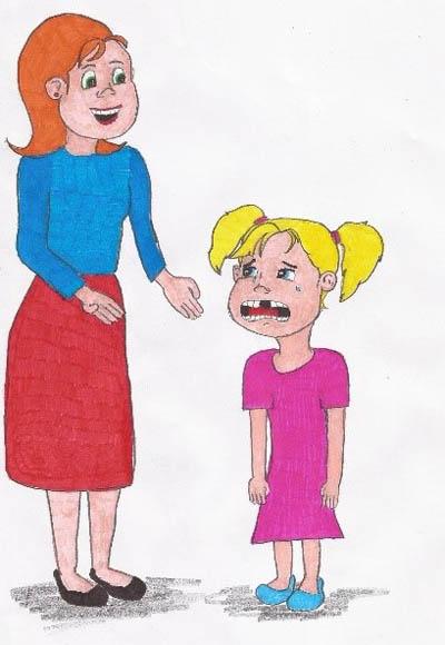 """""""Mamma!"""" roep Frieda.  """"Wat is fout, Frieda?"""" vra Mamma.  """"Ek het my fluit verloor!"""" huil Frieda.  """"Toemaar, Frieda. Jy moet dan net jou fluit gaan soek.""""  """"Dis ʾn slim plan!"""""""