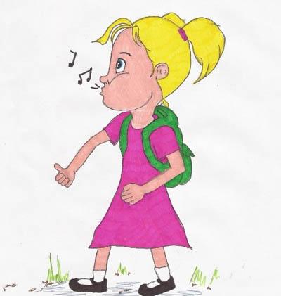 Frieda fluit en fluit en fluit.